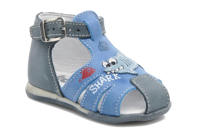Sandals Bopy ZAQUA Blue detailed view/ Pair view