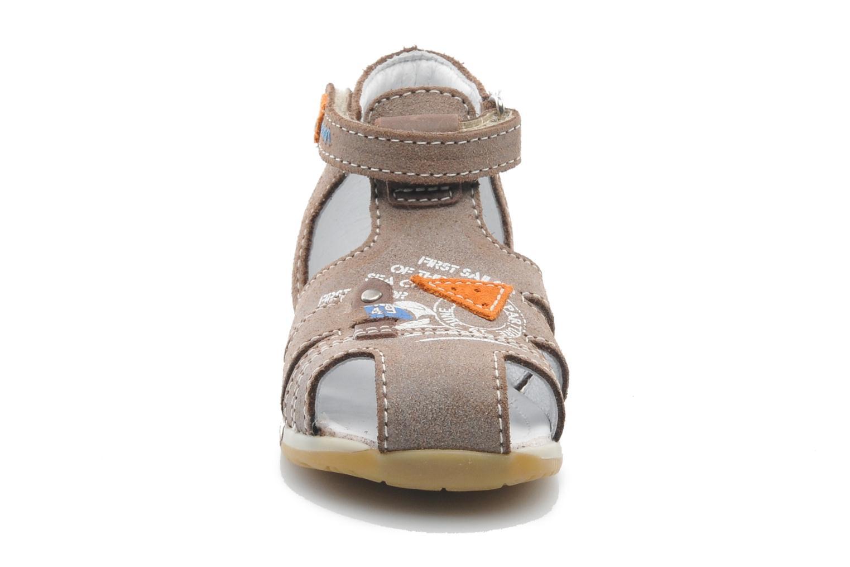 Sandales et nu-pieds Bopy ZIXOR Marron vue portées chaussures