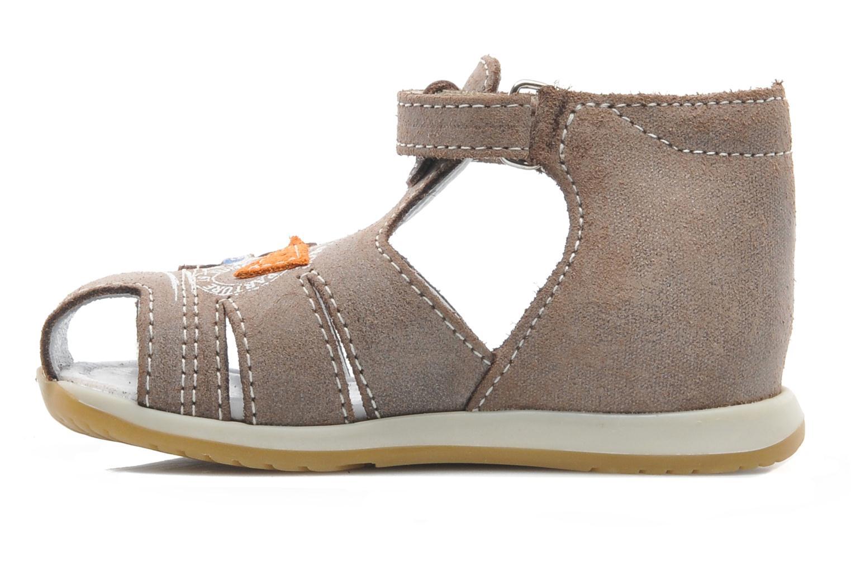 Sandalen Bopy ZIXOR braun ansicht von vorne
