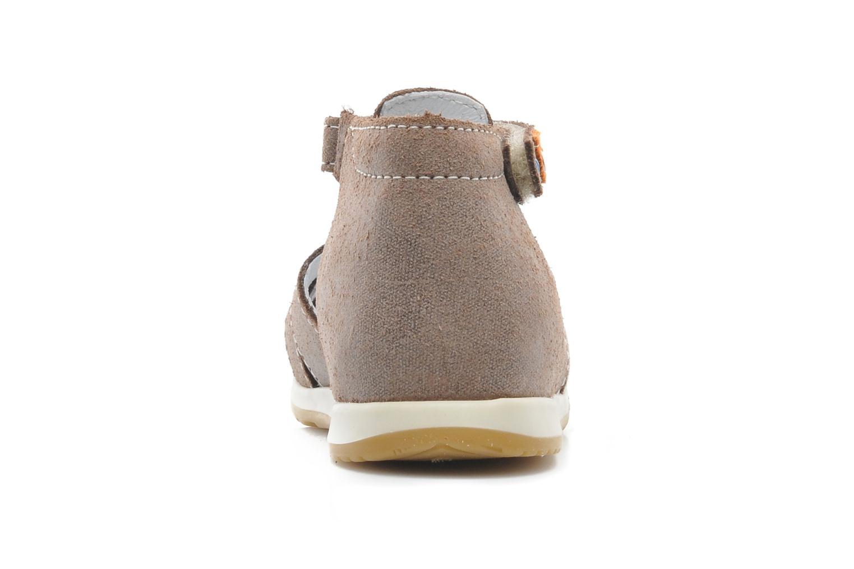 Sandales et nu-pieds Bopy ZIXOR Marron vue droite