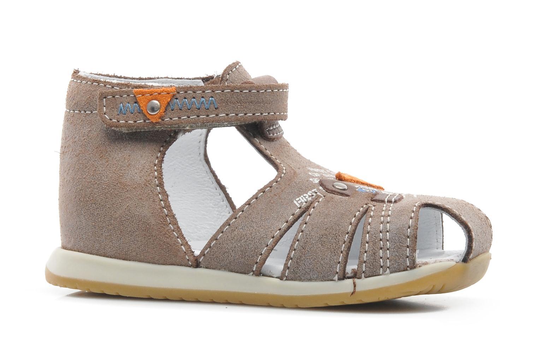 Sandales et nu-pieds Bopy ZIXOR Marron vue derrière