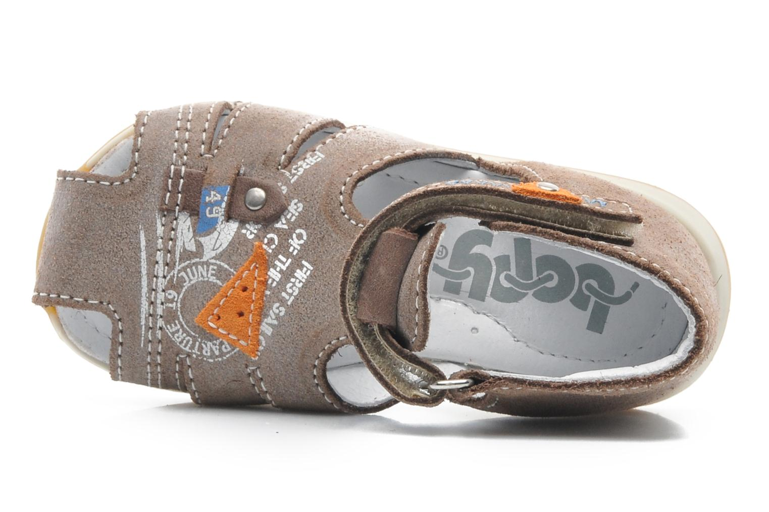 Sandals Bopy ZIXOR Brown view from the left