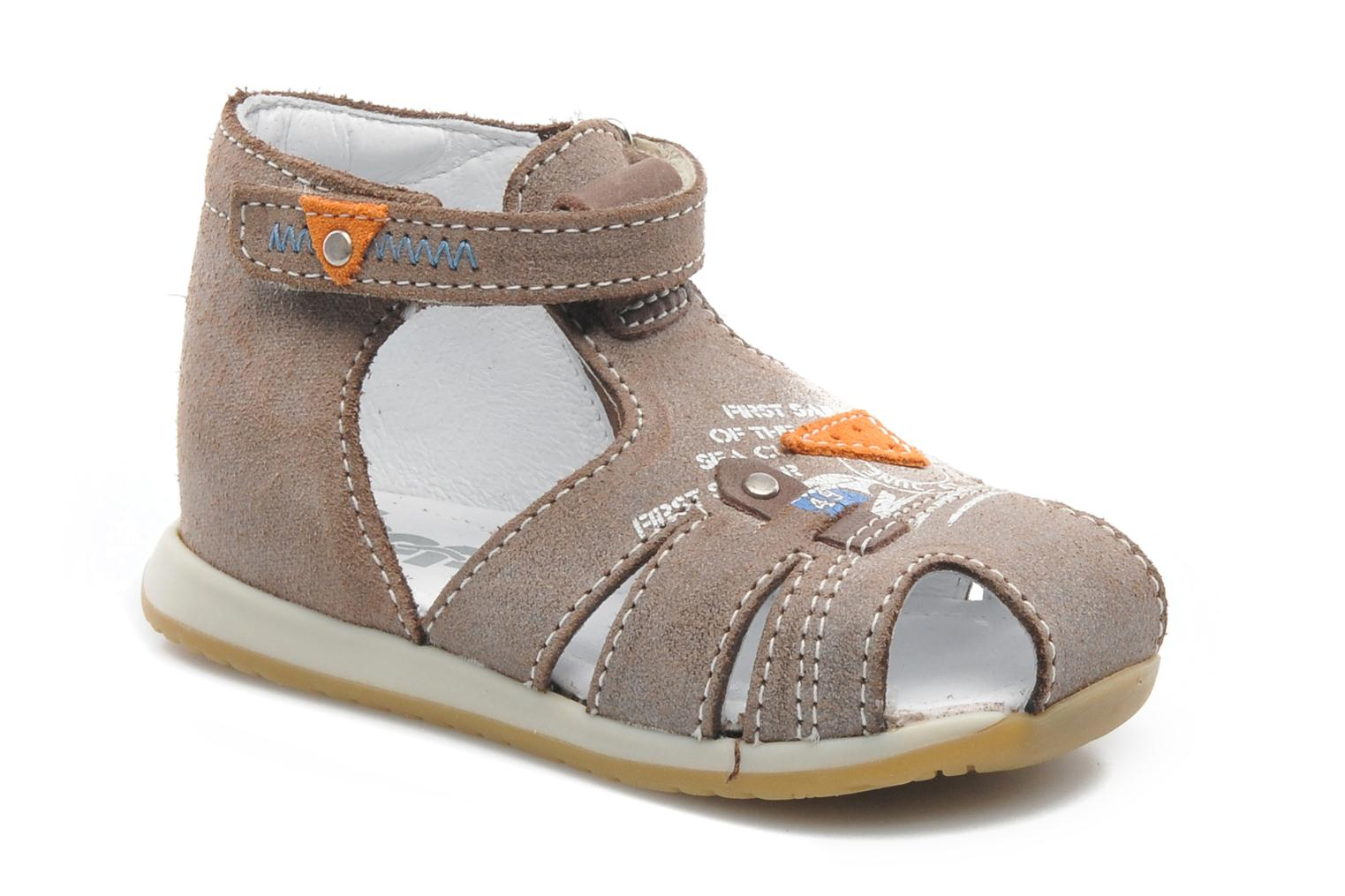 Sandals Bopy ZIXOR Brown detailed view/ Pair view