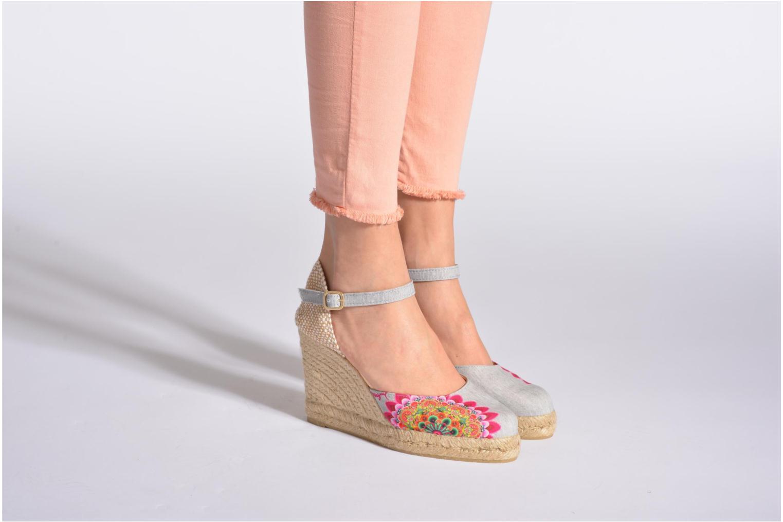 Sandalen Desigual Silla mehrfarbig ansicht von unten / tasche getragen