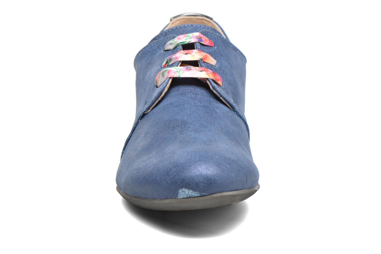Schnürschuhe Dorking Candy 5058 blau schuhe getragen