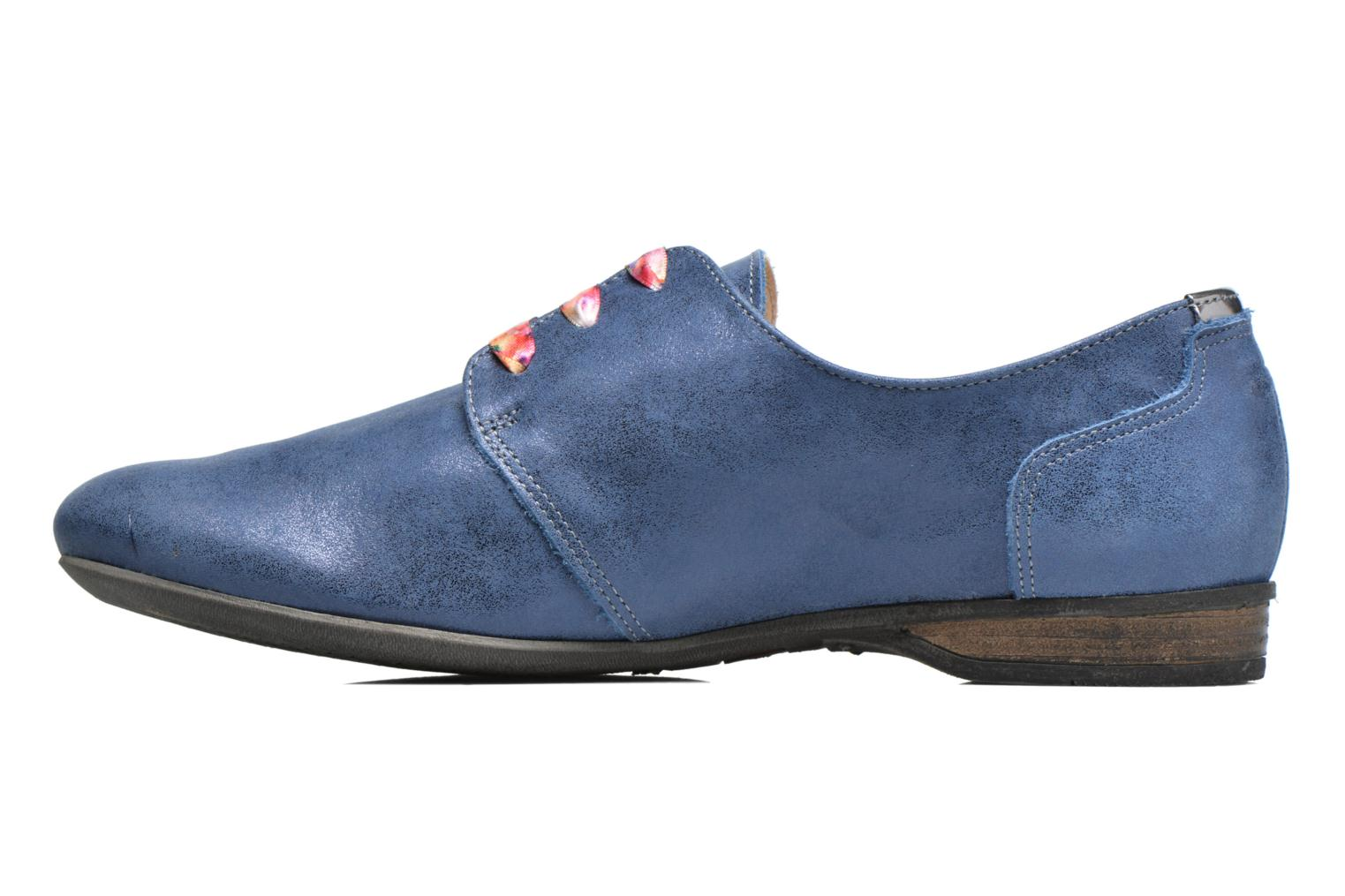 Lace-up shoes Dorking Candy 5058 Blue front view