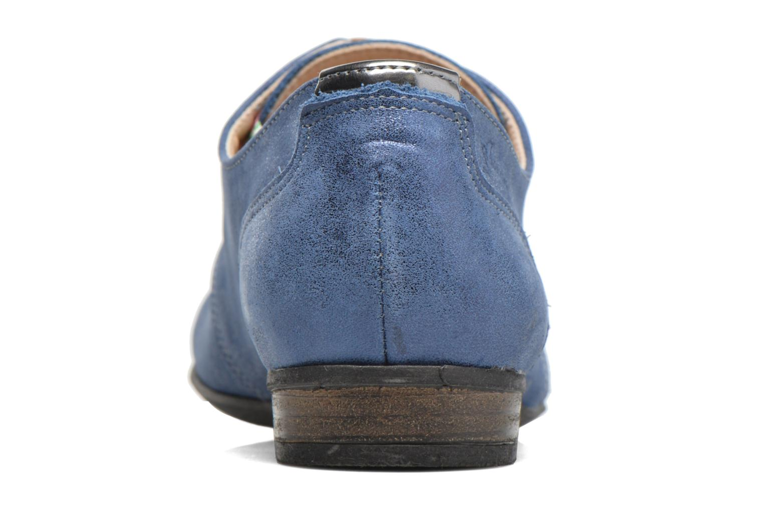 Lace-up shoes Dorking Candy 5058 Blue view from the right