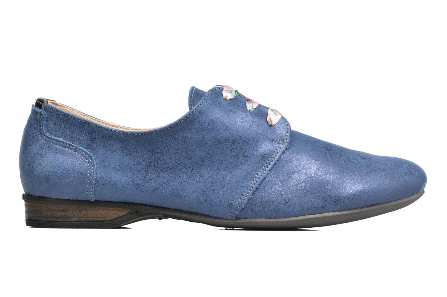 Lace-up shoes Dorking Candy 5058 Blue back view