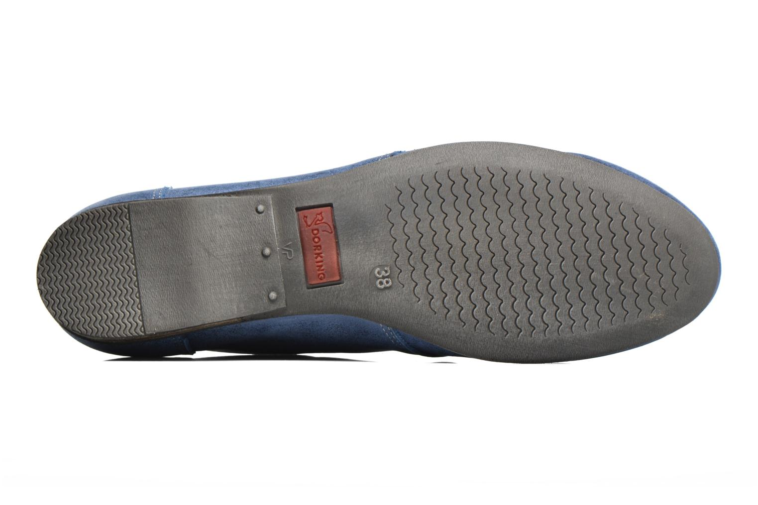 Lace-up shoes Dorking Candy 5058 Blue view from above