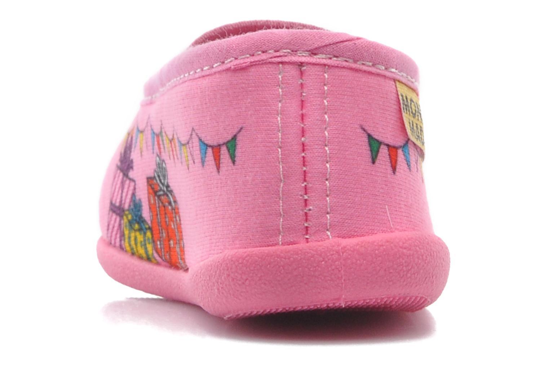 Hausschuhe Be Only Mme Princesse (Ballerine) rosa ansicht von rechts