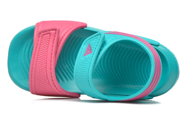 Sandales et nu-pieds Adidas Performance Akwah 9 I Vert vue gauche