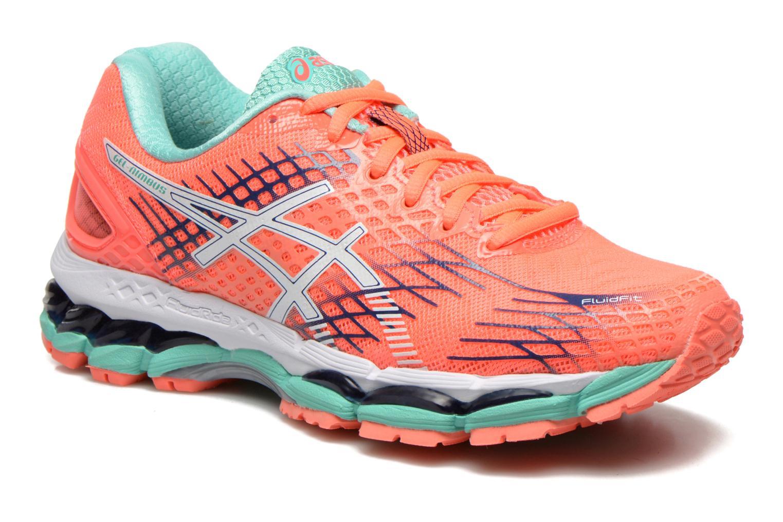 Chaussures de sport Asics Gel-Nimbus 17 W Orange vue détail/paire