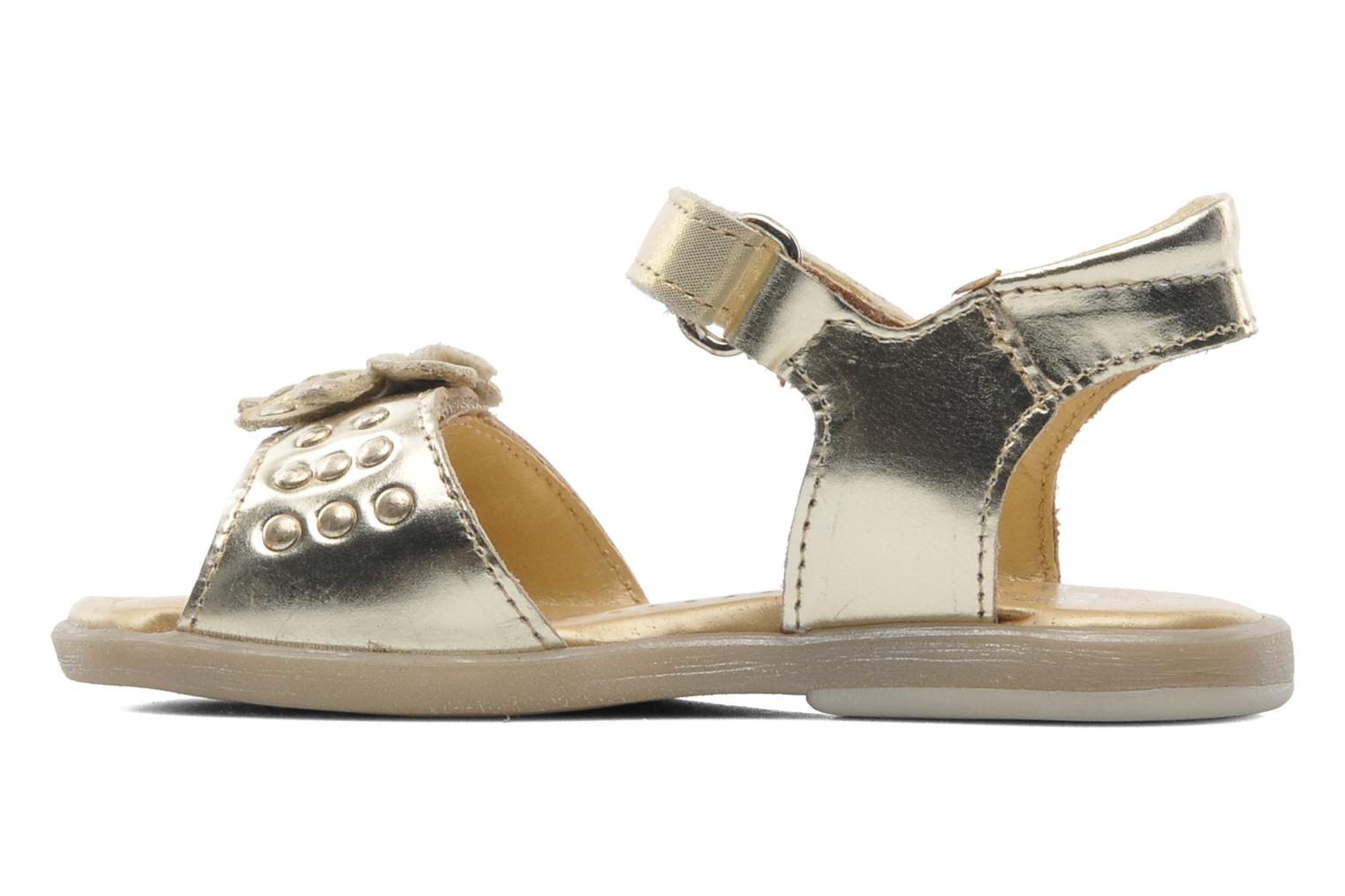 Sandals Babybotte Taline Bronze and Gold front view