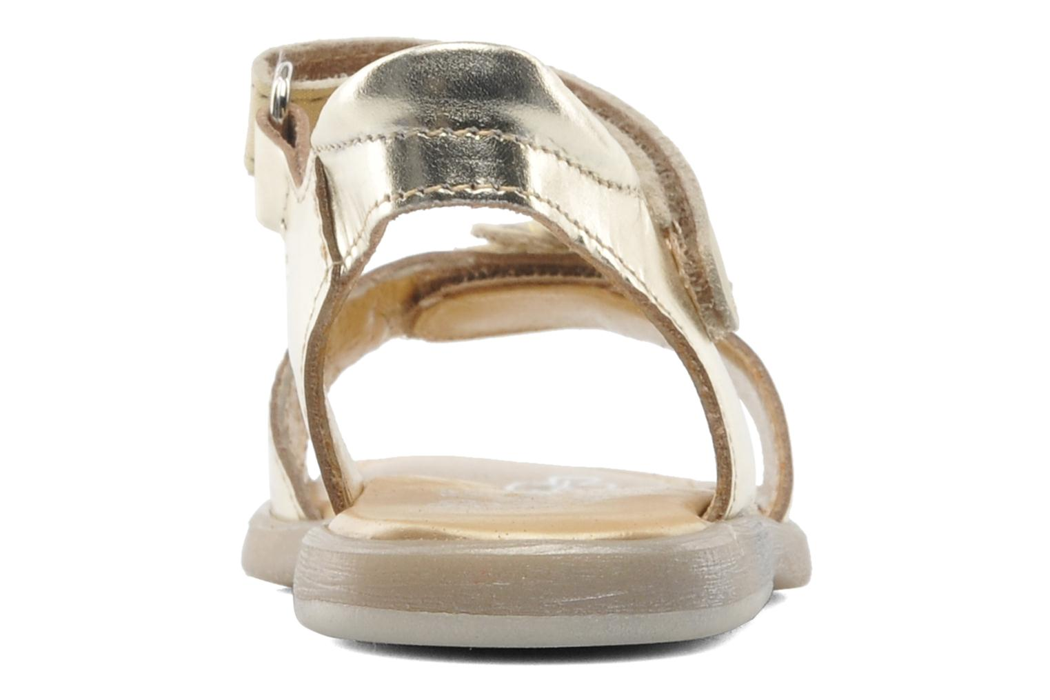 Sandals Babybotte Taline Bronze and Gold view from the right