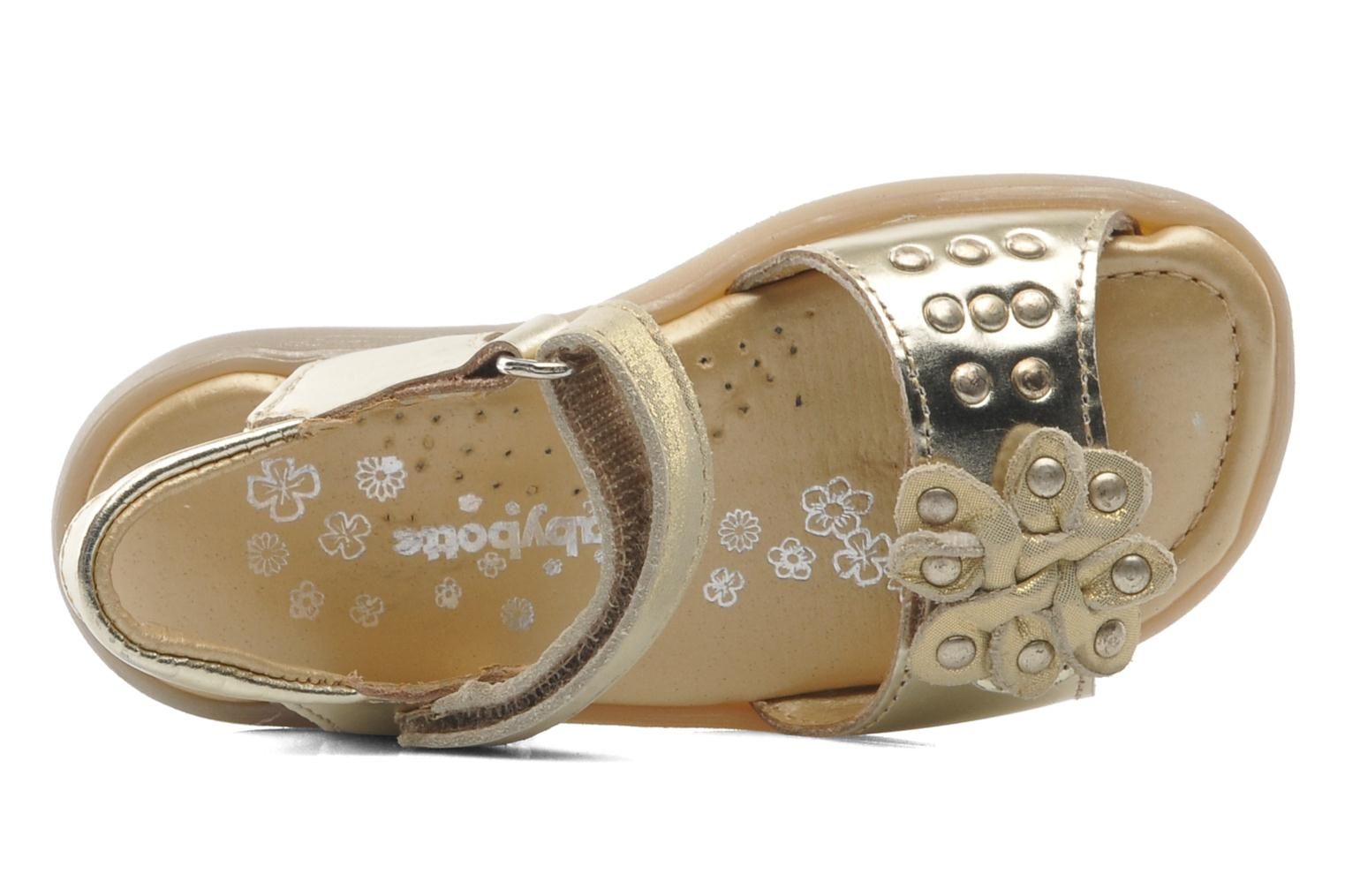 Sandals Babybotte Taline Bronze and Gold view from the left