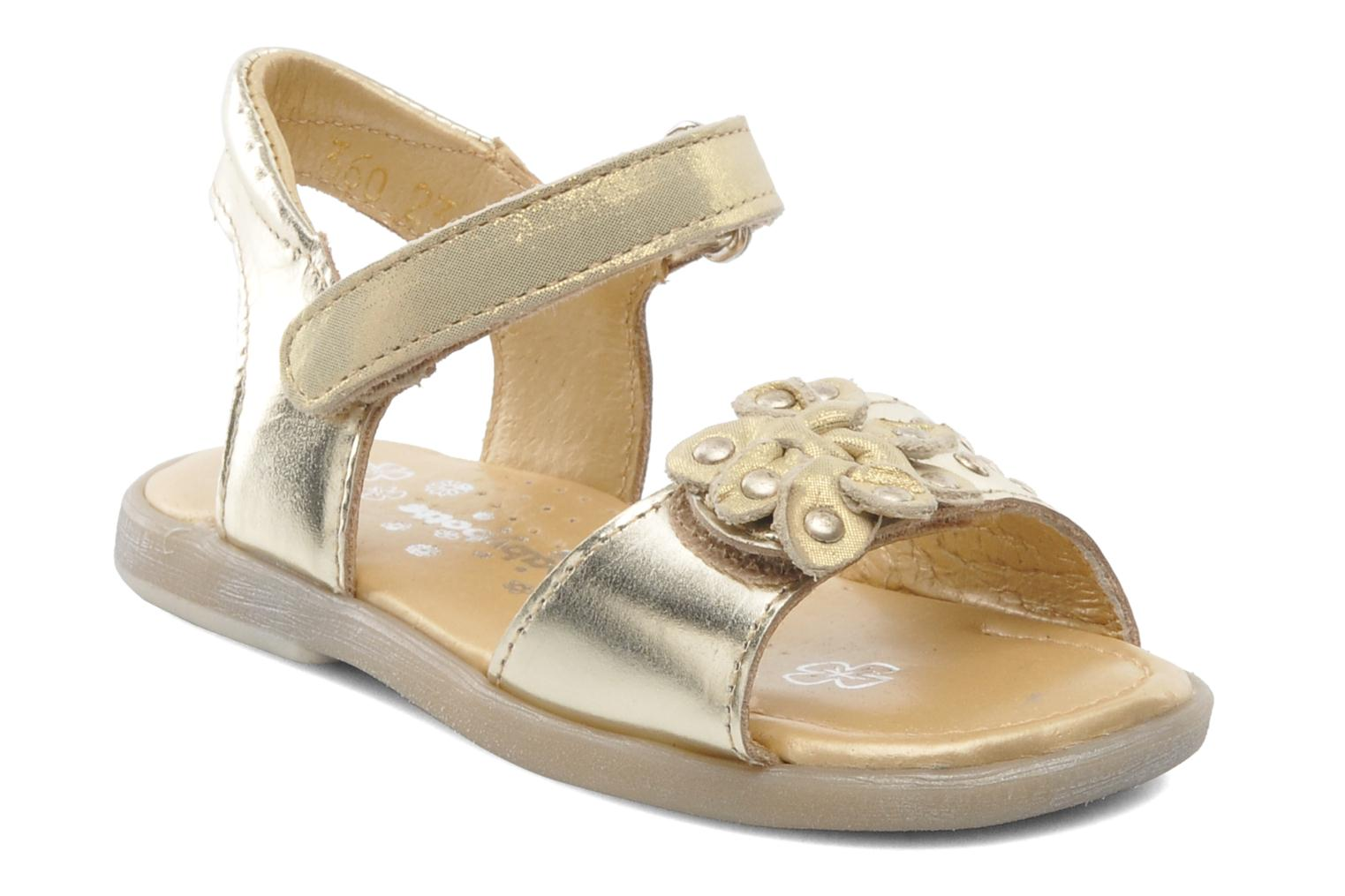 Sandals Babybotte Taline Bronze and Gold detailed view/ Pair view