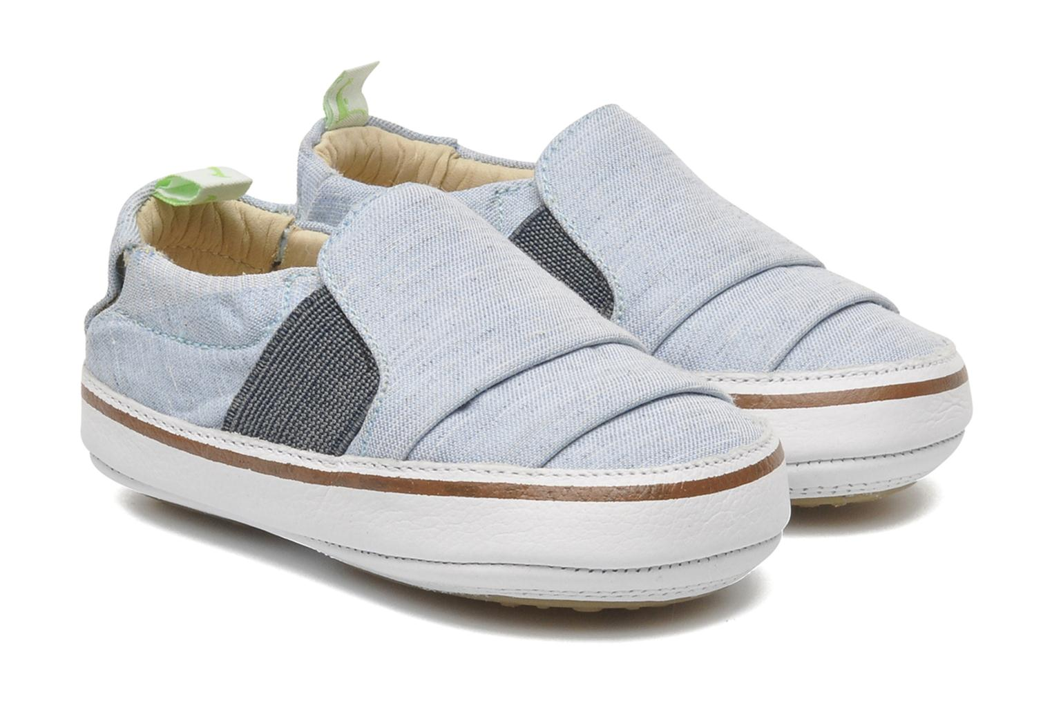 Sneakers Tip Toey Joey Slippy Blauw detail
