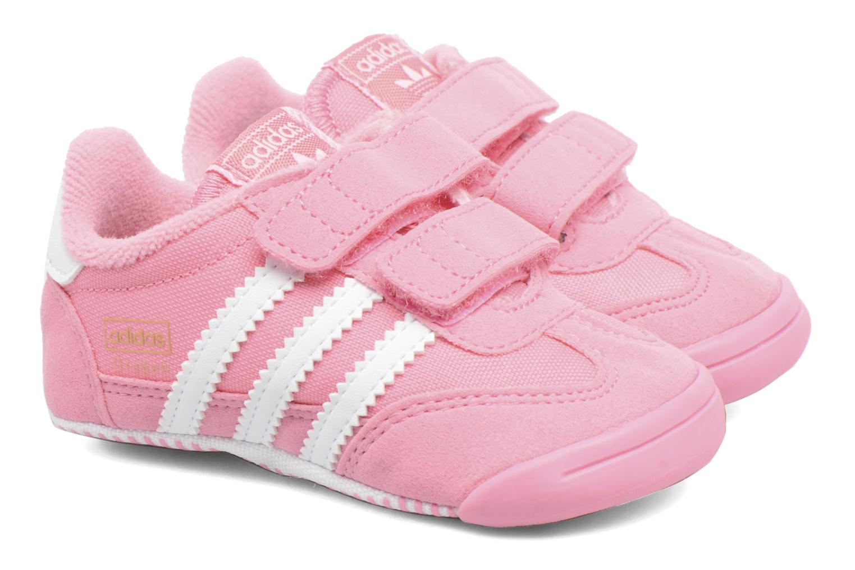 Baskets Adidas Originals Dragon L2W Crib Rose vue 3/4