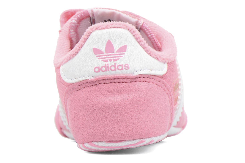 Baskets Adidas Originals Dragon L2W Crib Rose vue droite