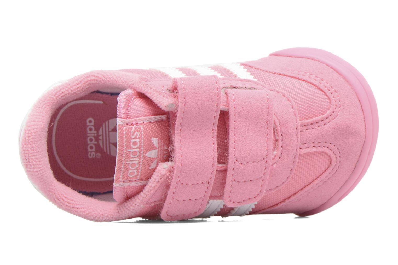 Baskets Adidas Originals Dragon L2W Crib Rose vue gauche