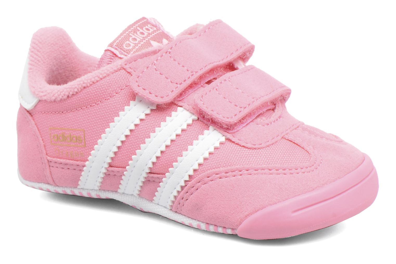 Baskets Adidas Originals Dragon L2W Crib Rose vue détail/paire