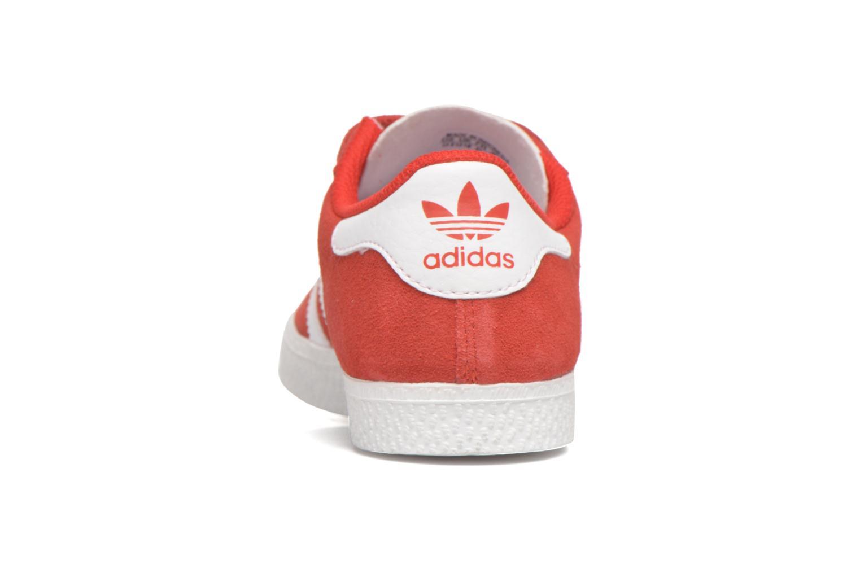 Deportivas Adidas Originals GAZELLE 2 CF C Rojo vista lateral derecha