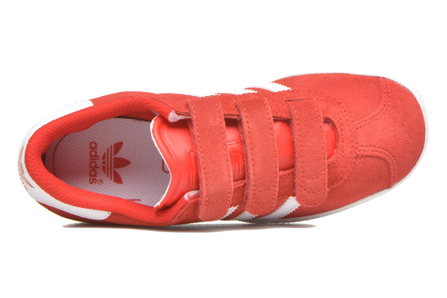 Trainers Adidas Originals GAZELLE 2 CF C Red view from the left