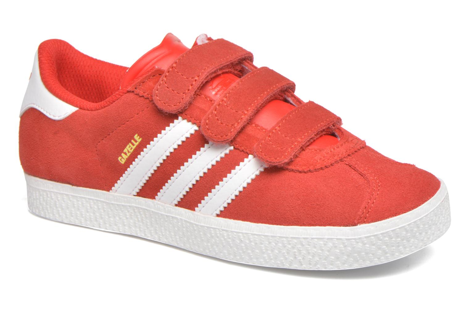 Trainers Adidas Originals GAZELLE 2 CF C Red detailed view/ Pair view