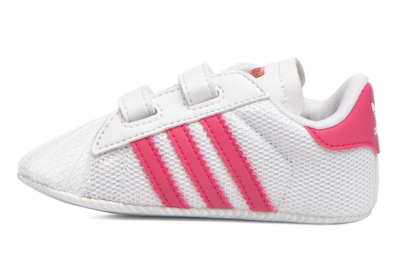 Sneaker Adidas Originals SUPERSTAR CRIB weiß ansicht von vorne