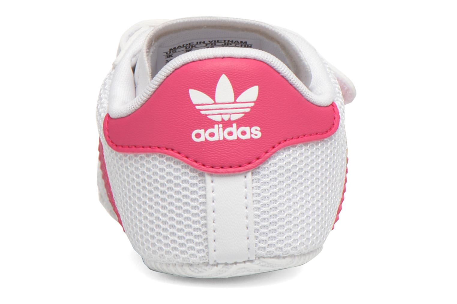 Trainers Adidas Originals SUPERSTAR CRIB White view from the right
