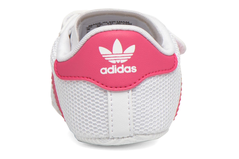 Baskets Adidas Originals SUPERSTAR CRIB Blanc vue droite