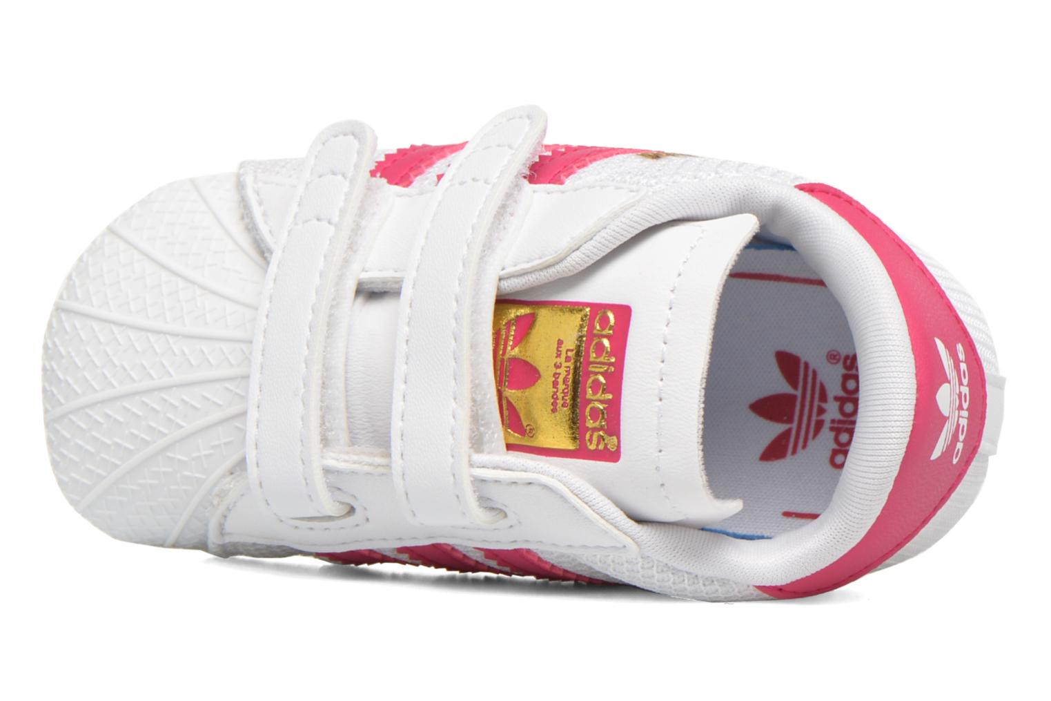 Trainers Adidas Originals SUPERSTAR CRIB White view from the left