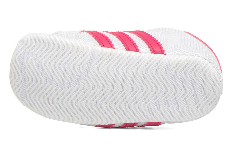 Baskets Adidas Originals SUPERSTAR CRIB Blanc vue haut