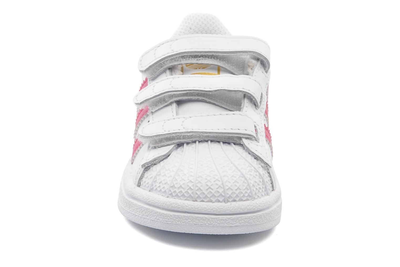 Baskets Adidas Originals SUPERSTAR FOUNDATION CF I Blanc vue portées chaussures