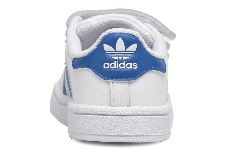 Sneaker Adidas Originals SUPERSTAR FOUNDATION CF I weiß ansicht von rechts