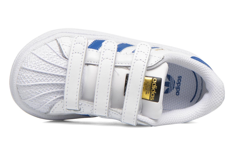 Sneaker Adidas Originals SUPERSTAR FOUNDATION CF I weiß ansicht von links