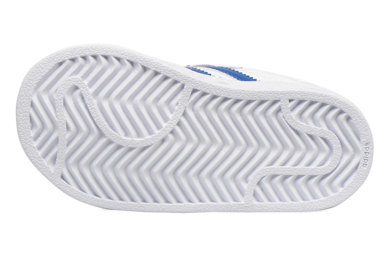 Baskets Adidas Originals SUPERSTAR FOUNDATION CF I Blanc vue haut