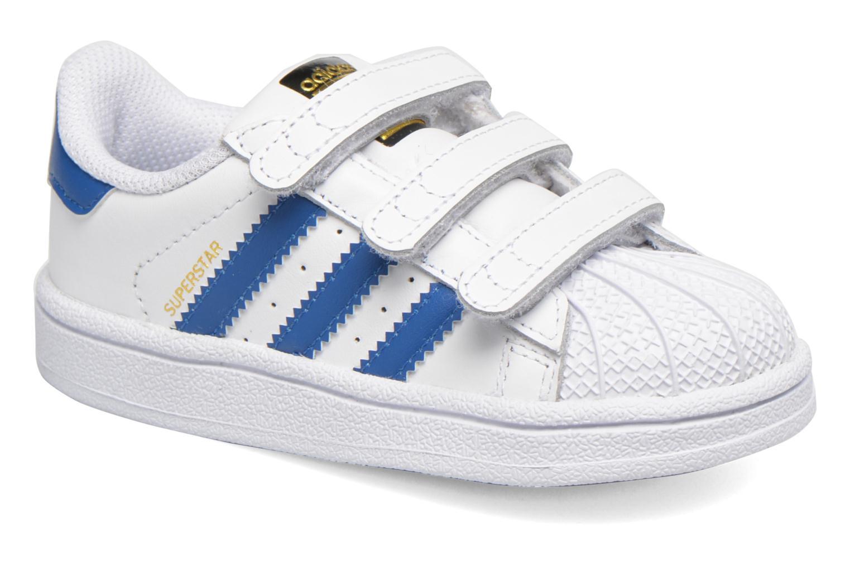 Baskets Adidas Originals SUPERSTAR FOUNDATION CF I Blanc vue détail/paire