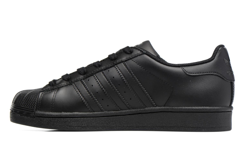 Trainers Adidas Originals Superstar Foundation J Black front view