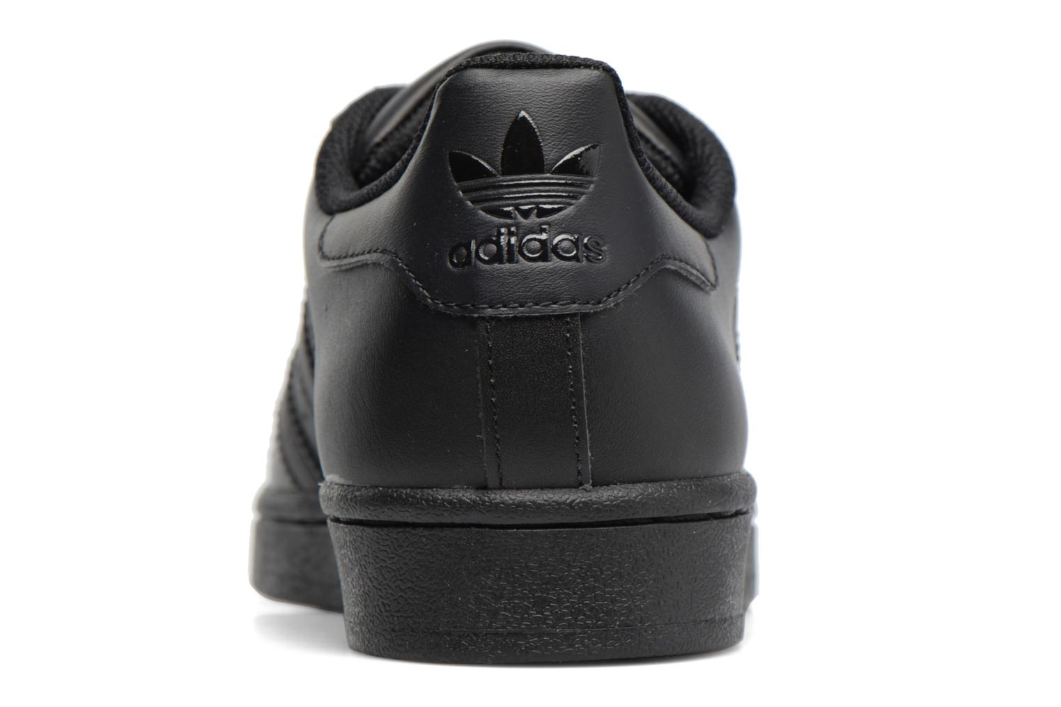 Trainers Adidas Originals Superstar Foundation J Black view from the right
