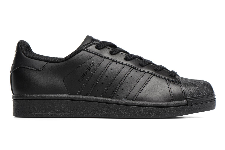 Sneaker Adidas Originals Superstar Foundation J schwarz ansicht von hinten