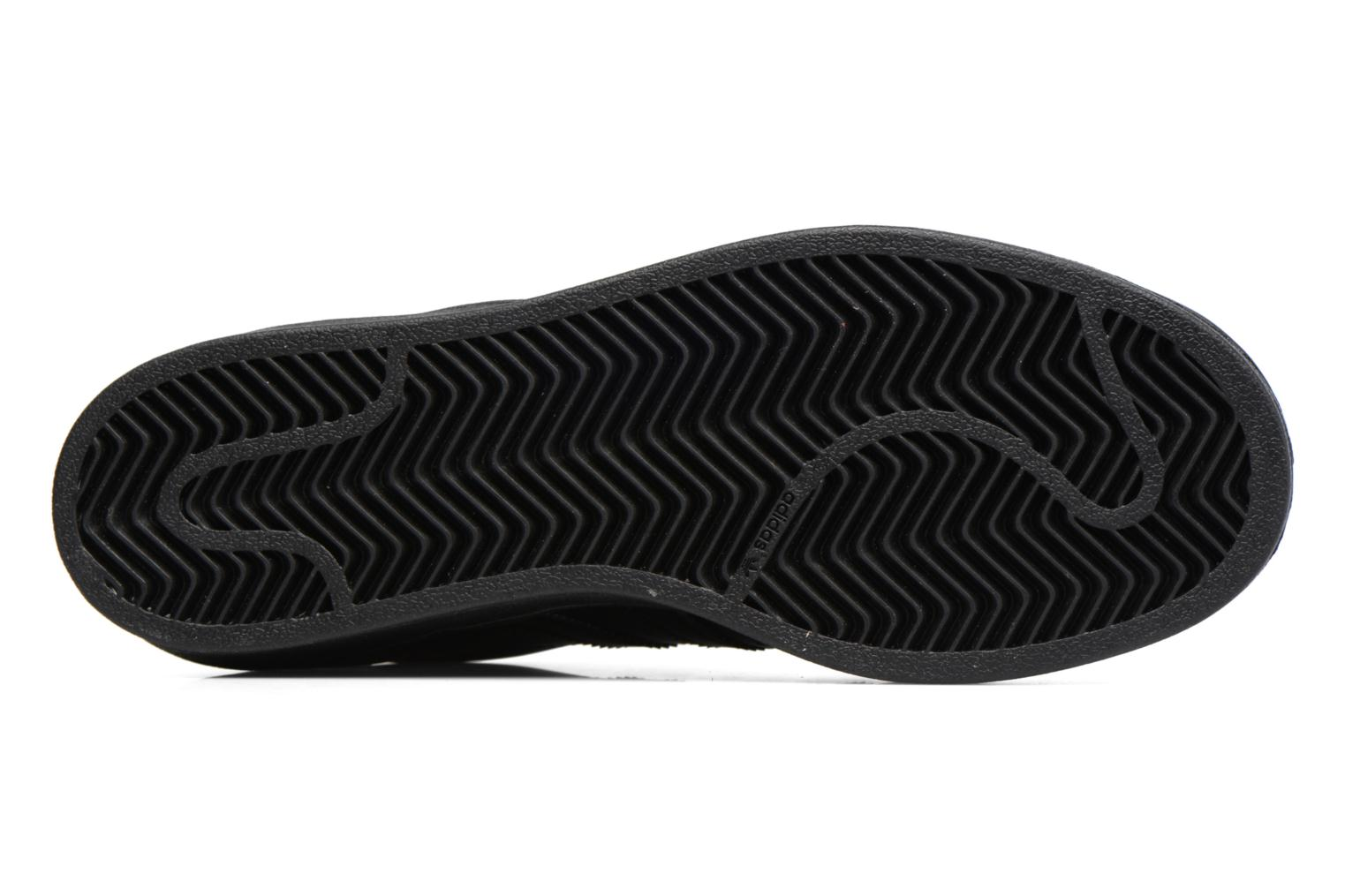 Trainers Adidas Originals Superstar Foundation J Black view from above