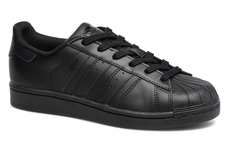 Trainers Adidas Originals Superstar Foundation J Black detailed view/ Pair view
