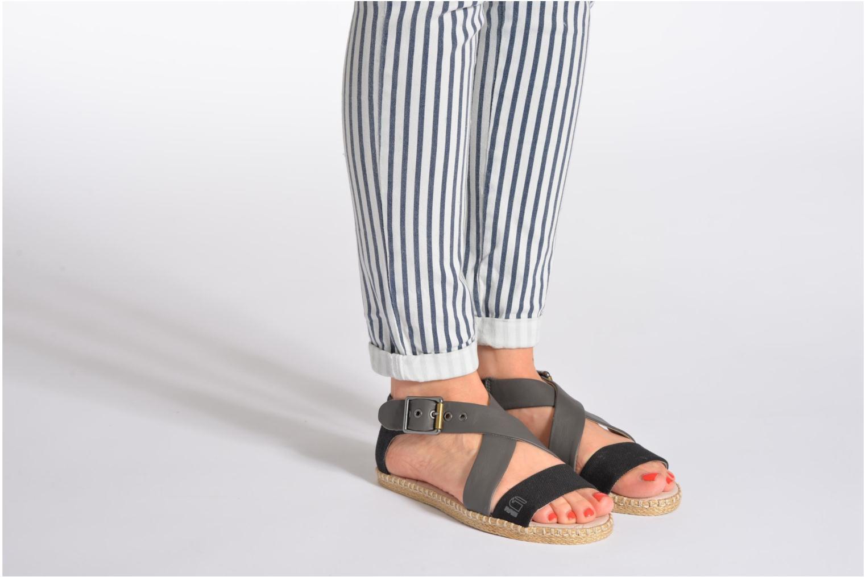 Sandales et nu-pieds G-Star Aria Flat Salon Strap Bleu vue bas / vue portée sac