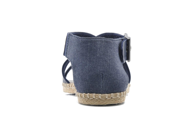 Sandales et nu-pieds G-Star Aria Flat Salon Strap Bleu vue droite