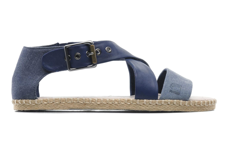 Sandales et nu-pieds G-Star Aria Flat Salon Strap Bleu vue derrière