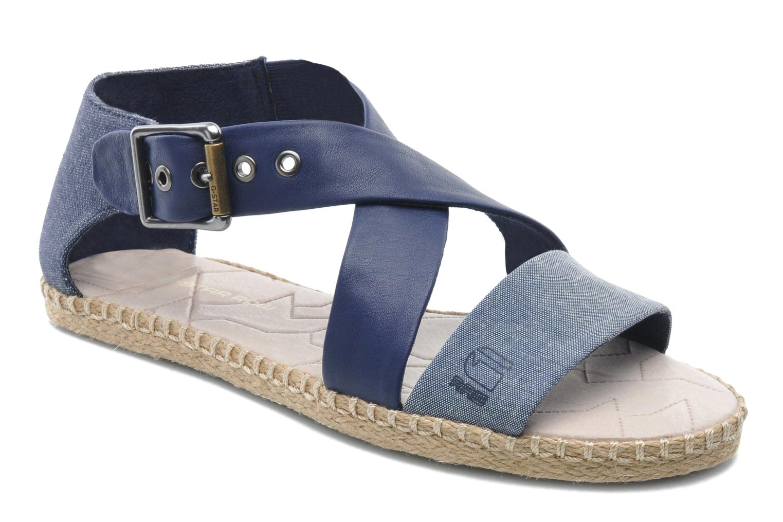 Sandales et nu-pieds G-Star Aria Flat Salon Strap Bleu vue détail/paire