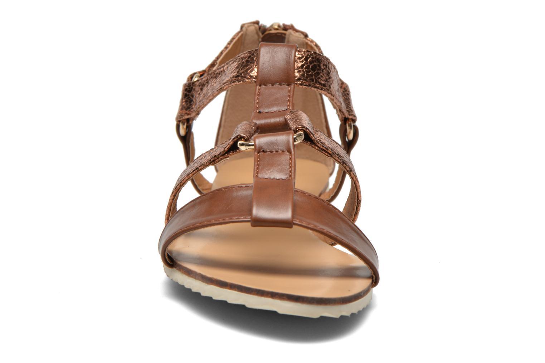 Sandales et nu-pieds Divine Factory Acrux Or et bronze vue portées chaussures