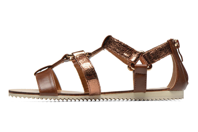 Sandales et nu-pieds Divine Factory Acrux Or et bronze vue face