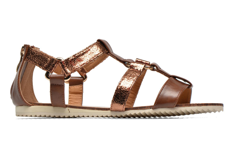 Sandales et nu-pieds Divine Factory Acrux Or et bronze vue derrière